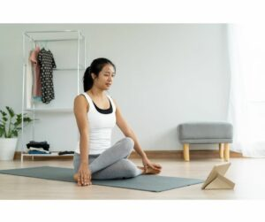 Practicing Onsite and Virtual Yoga